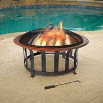 "30"" Bronze-colored Bowl Fire Pit"