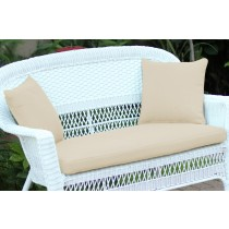 Ivory Loveseat Cushion with Pillows