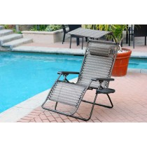 Oversized Zero Gravity Chair with Sunshade and Drink Tray - Black and Tan