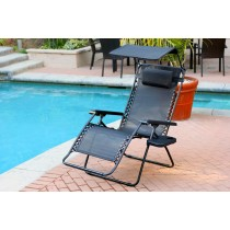 Set of 2 Oversized Zero Gravity Chair with Sunshade and Drink Tray