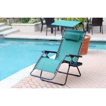 Oversized Zero Gravity Chair with Sunshade and Drink Tray - Green