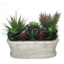 """7.5"""" Artifical Succulent Garden"""