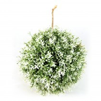 "10"" Frosted Round Topiary"