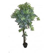 """78"""" White Net Shape Leaf Tree"""