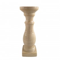 Large Beige Pillar Holder