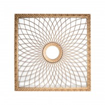 "28"" Square Silver Metal Wall Decor"