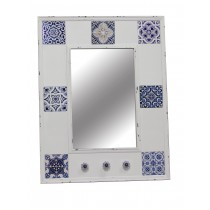 Antique Wall Mirror in white and Blue
