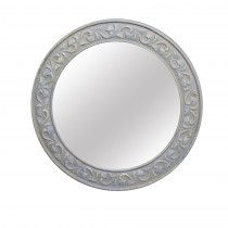"30.75""  Gray Round Wall Mirror"