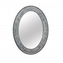 "29.5"" Gray Oval Wall Mirror"