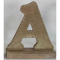 Champagne-colored Decorative Letter (A)