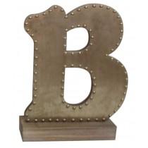 Champagne-colored Decorative Letter (B)