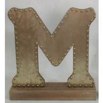 Champagne-colored Decorative Letter (M)