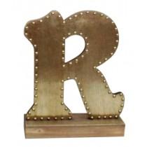 Champagne-colored Decorative Letter (R)