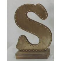 Champagne-colored Decorative Letter (S)