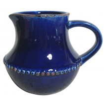 "6"" Small Indigo Ceramic Pitcher"