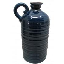 "14"" Turquoise Vase with Handle"