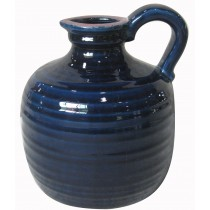 "7.5"" Blue Vase with Handle"