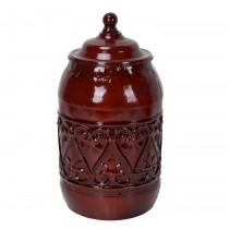 """10.5"""" Red Metal Jar"""