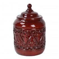 """8"""" Red Metal Jar"""