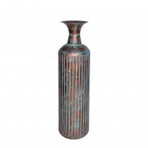 """23.75"""" Copper/Blue Metal Vase"""
