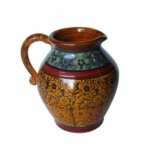 Blue & Red & Yellow Pattern Pitcher