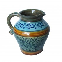 Blue & Yellow Pattern Pitcher