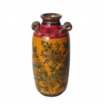 Red & Yellow Pattern Vase
