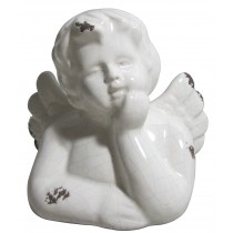 White Ceramic Cherub