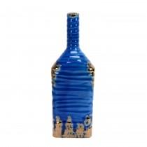 """Singara 12.4"""" Blue Ceramic Vase"""