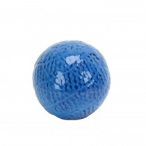 """3.7"""" Decorative Ceramic Spheres  blue"""