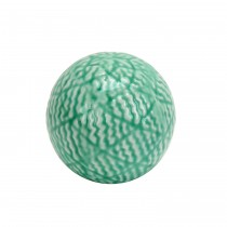 "3.7"" Decorative Ceramic Spheres  Green"