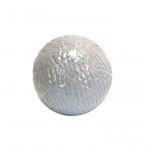 """3.7"""" Decorative Ceramic Spheres  White"""