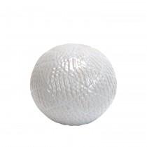 """4.7"""" Decorative Ceramic Spheres White"""