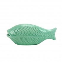 "Dara 7.25"" Jade colored Decorative Ceramic Fish"
