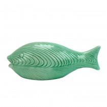 """Nisibis 11"""" Jade colored Decorative Ceramic Fish"""