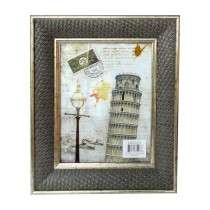 "8"" x 10"" Gray Patterned Photo Frame"