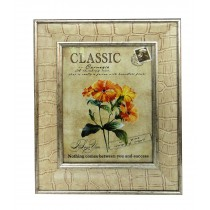 "8"" x 10"" Tan Patterened Photo Frame"