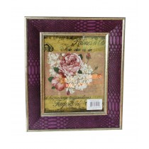 "8"" x 10"" Purple Patterned Photo Frame"