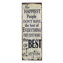 "12"" x 35.5"" Inspirational Wall Plaque"