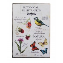 "13.75"" x 19.75"" Botanical Wall Plaque"
