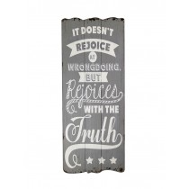 Rejoice Truth Plaque