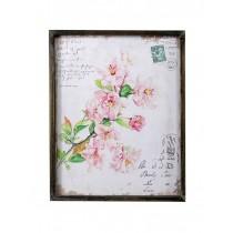 Asian Flowers Plaque