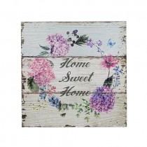 How Sweet Home Flowers Plaque