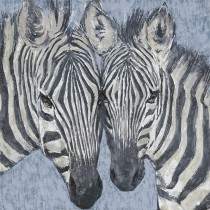 """40"""" Zebra Brothers Oil Painting Wall Decor"""