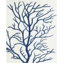 16 X 20 Blue Dried Tree Oil Paint Wall Decor