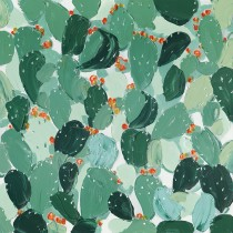 40 x 40 Green Leaf Oil Paint Wall Decor