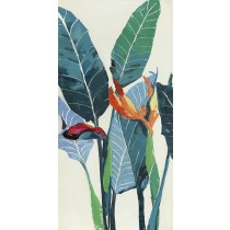 24 X 48 Color Leaf-I Oil Painting Wall Decor