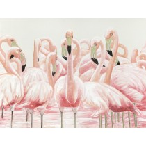 36 X 48 Pink Egret Oil Painting Wall Decor