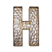 Honeycomb Patterned Letter H