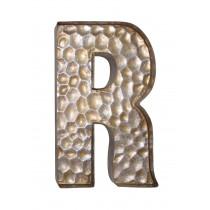 Honeycomb Patterned Letter R